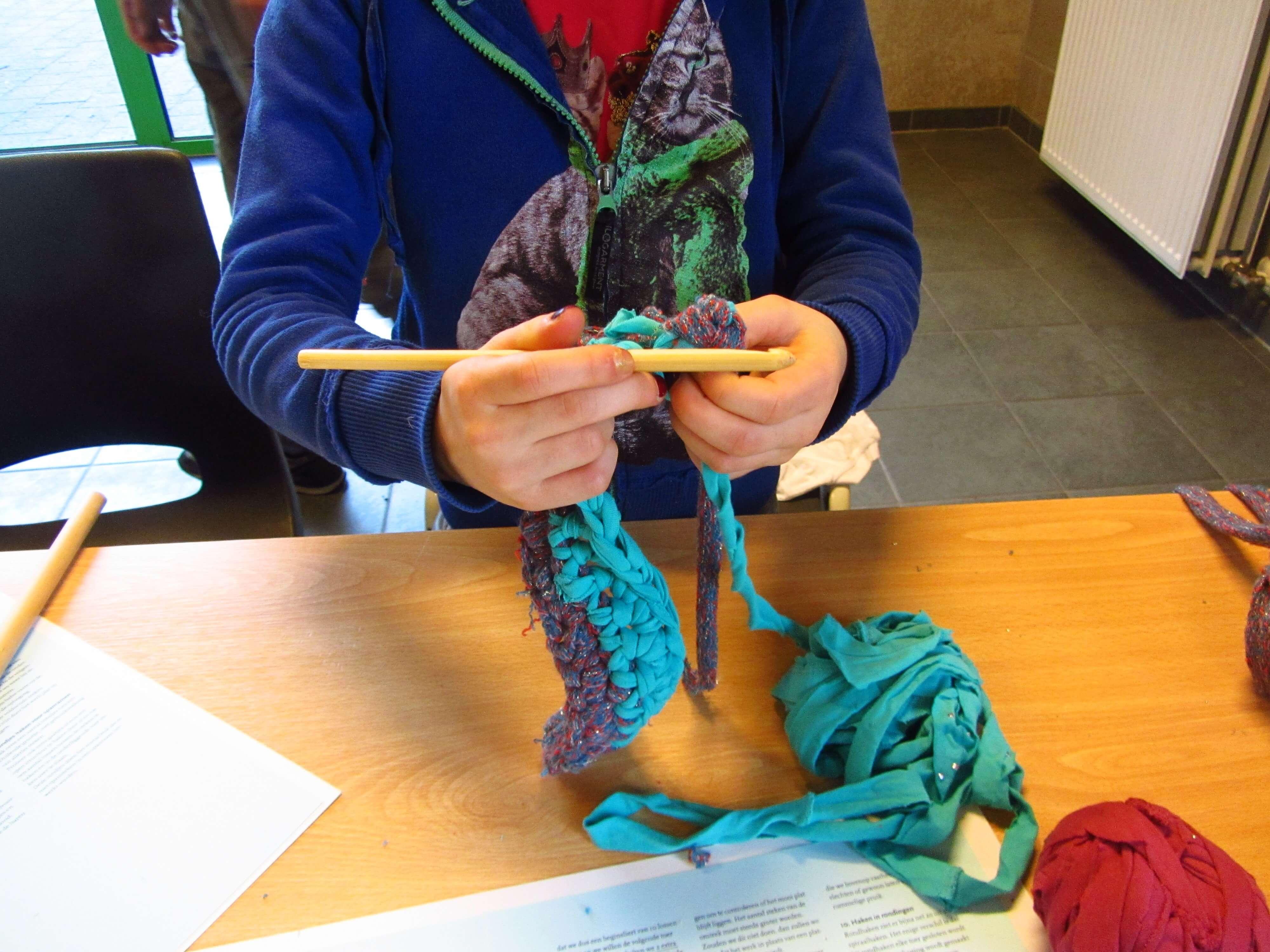 Workshop Haken Met Stoflinten De Blauwe Raaf